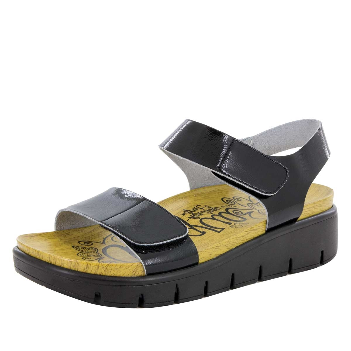 Alegria Playa Black Patent comfort sandals for women · View Larger Photo  Email ...