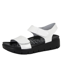 Alegria Playa White Patent comfort sandals for women