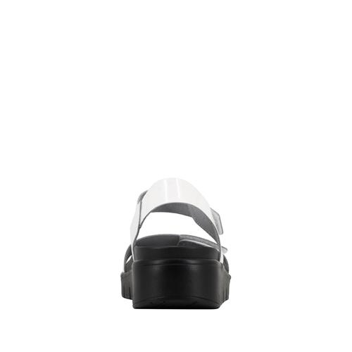 c8a85a98caebb0 Playa White Patent Sandal - Alegria Shoes