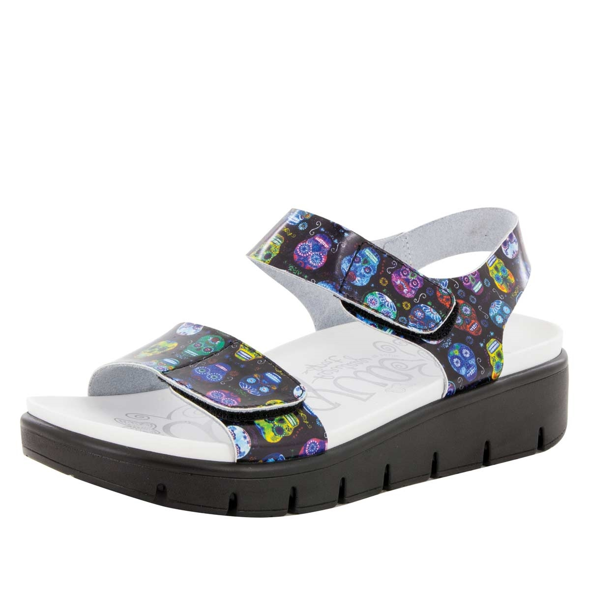 Playa Sugar Skulls Sandal Alegria Shoes Sendal Flat Lisa Purple