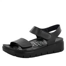 Alegria Playa Black Nappa comfort sandals for women