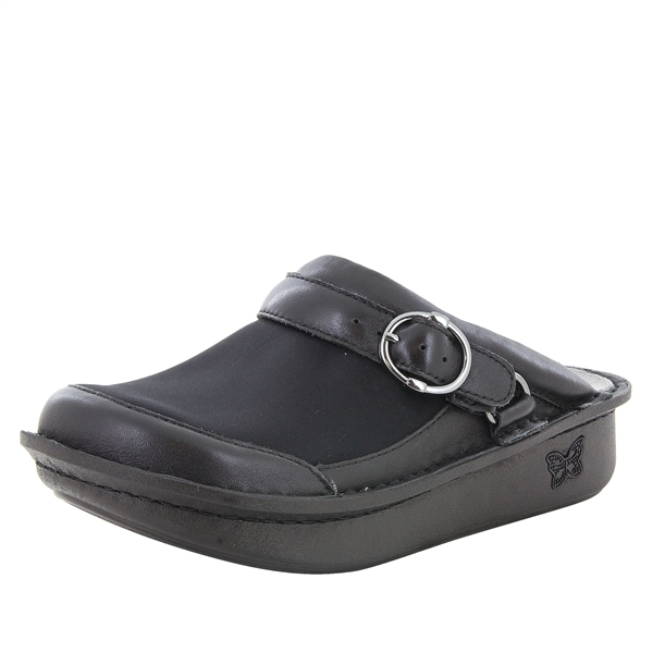 Alegria Seville Black comfort clog shoes for women