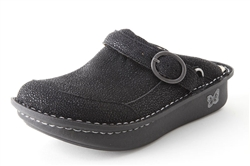 Alegria Seville Night Gleam leather comfort clogs for women