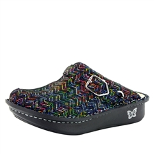 Alegria Seville Ric Rack Rainbow comfort clog shoes for women