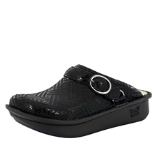 Alegria Seville Black Dazzler comfort clog shoes for women