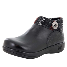 Alegria Sitka Snowflake Black womens comfort ankle boot