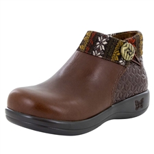 Alegria Sitka Snowflake Choco womens comfort ankle boot