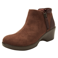 Alegria Sloan Brown Suede