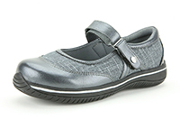 Alegria Sonya Pewter athletic slip resistant comfort shoe for women