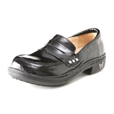Alegria Taylor Black Waxy slip resistant dress loafer for women