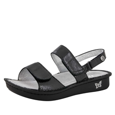 Alegria Verona Uptown Black womens leather comfort sandal
