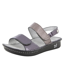 Alegria Verona Braided Pewter womens leather comfort sandal