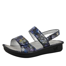 Alegria Verona Quarry Crackle womens leather comfort sandal