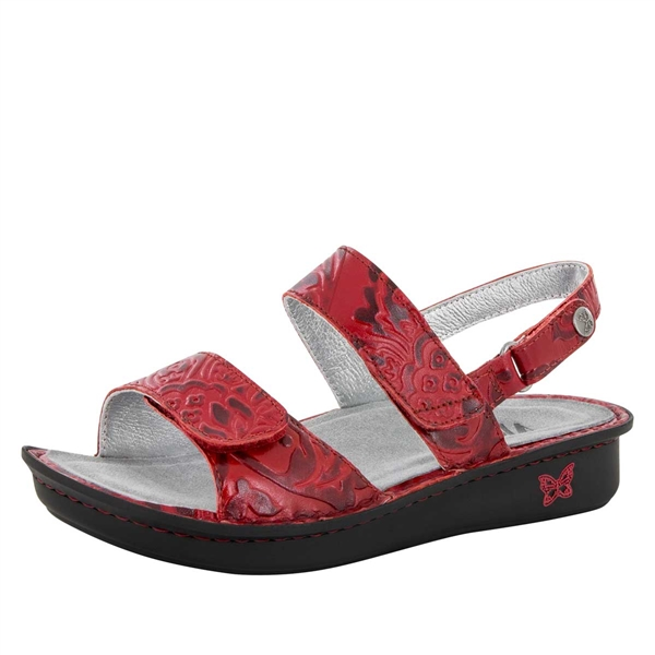 Alegria Verona Yeehaw Red womens leather comfort sandal
