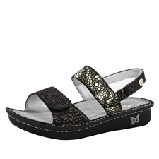 Alegria Verona Pewter Mosaic womens leather comfort sandal