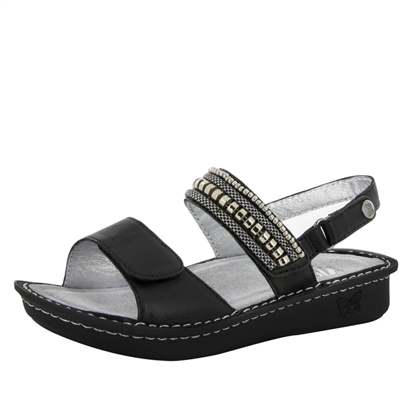 Alegria Verona Coal Chain Gang womens leather comfort sandal