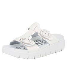 Alegria Vita Duo White Patent comfort sandals for women