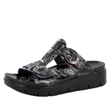 Alegria Vita Peace & Love Black comfort sandals for women