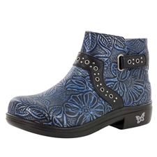 Alegria Zoey Blue Romance Water-Resistant floral print boot