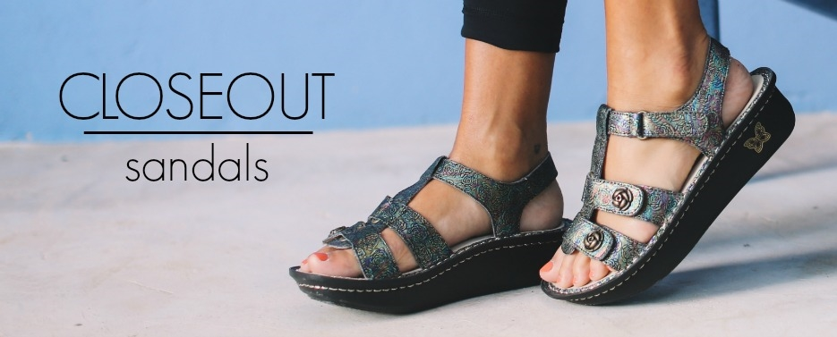 Alegria Sandal Closeouts have been